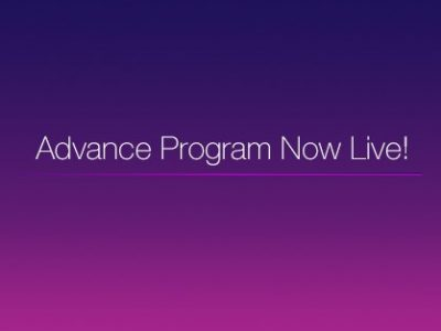 Advance Program Now Live!