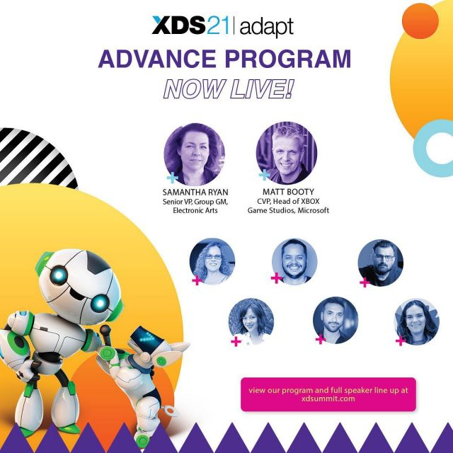 #XDS21Adapt full speaker line up is now live! And while we have your attention, head over to our schedule page to see our #XDS advance program so you can start planning out what sessions you'd like to attend come September.#Developers and #Publishers, we still have passes available for you! Don't miss out on the best virtual XDS yet.